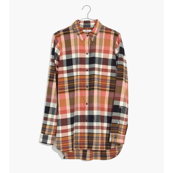 603878f19cd Madewell Classic Ex-Boyfriend Shirt Seconda Plaid.